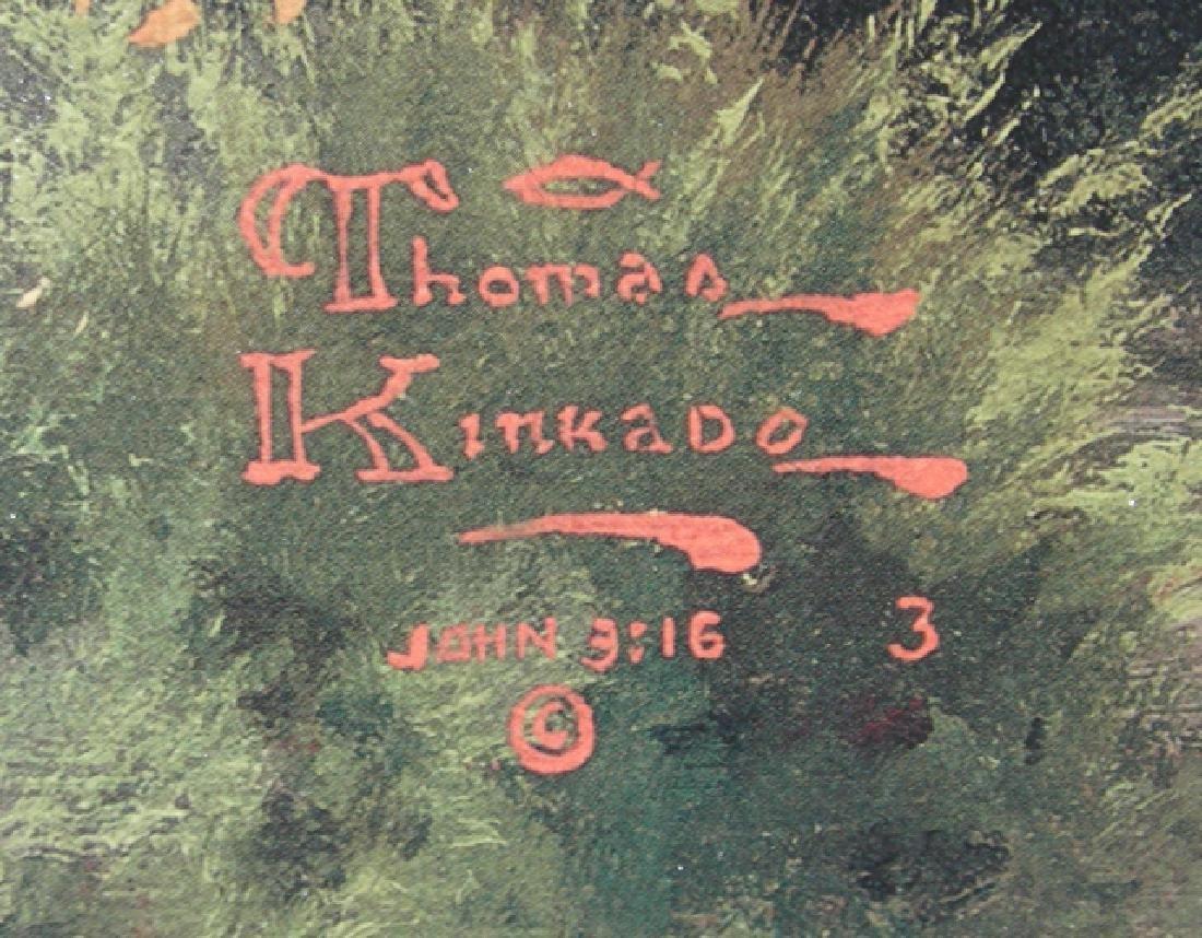 "THOMAS KINKADE ENHANCED PRINT ""LAKESIDE HIDEAWAY) - 3"