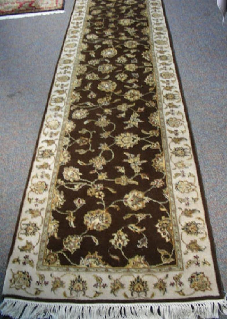 HAND KNOTTED RAJASTHAN WOOL & SILK RUNNER