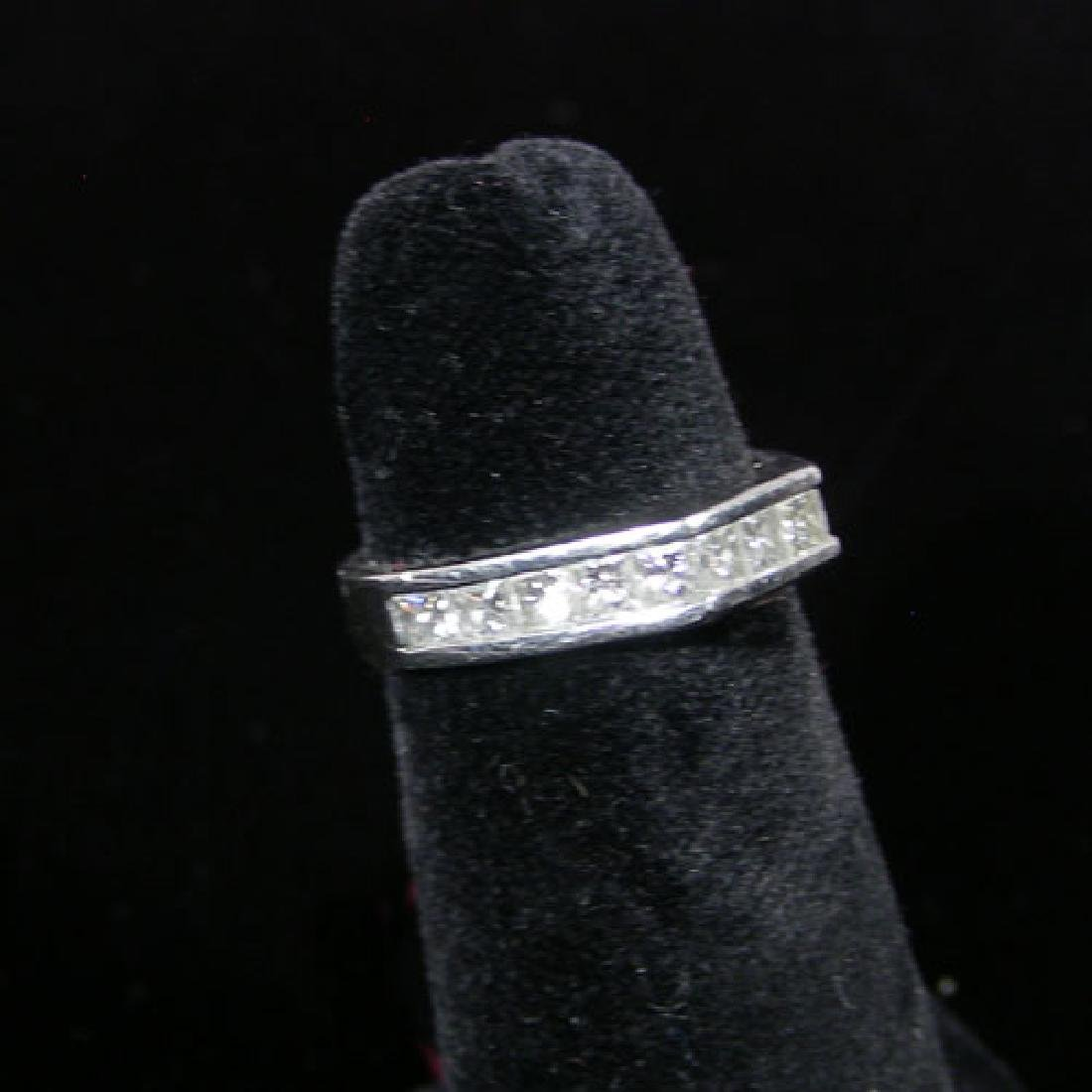 LADIES BEAUTIFUL PLATINUM AND DIAMOND BAND