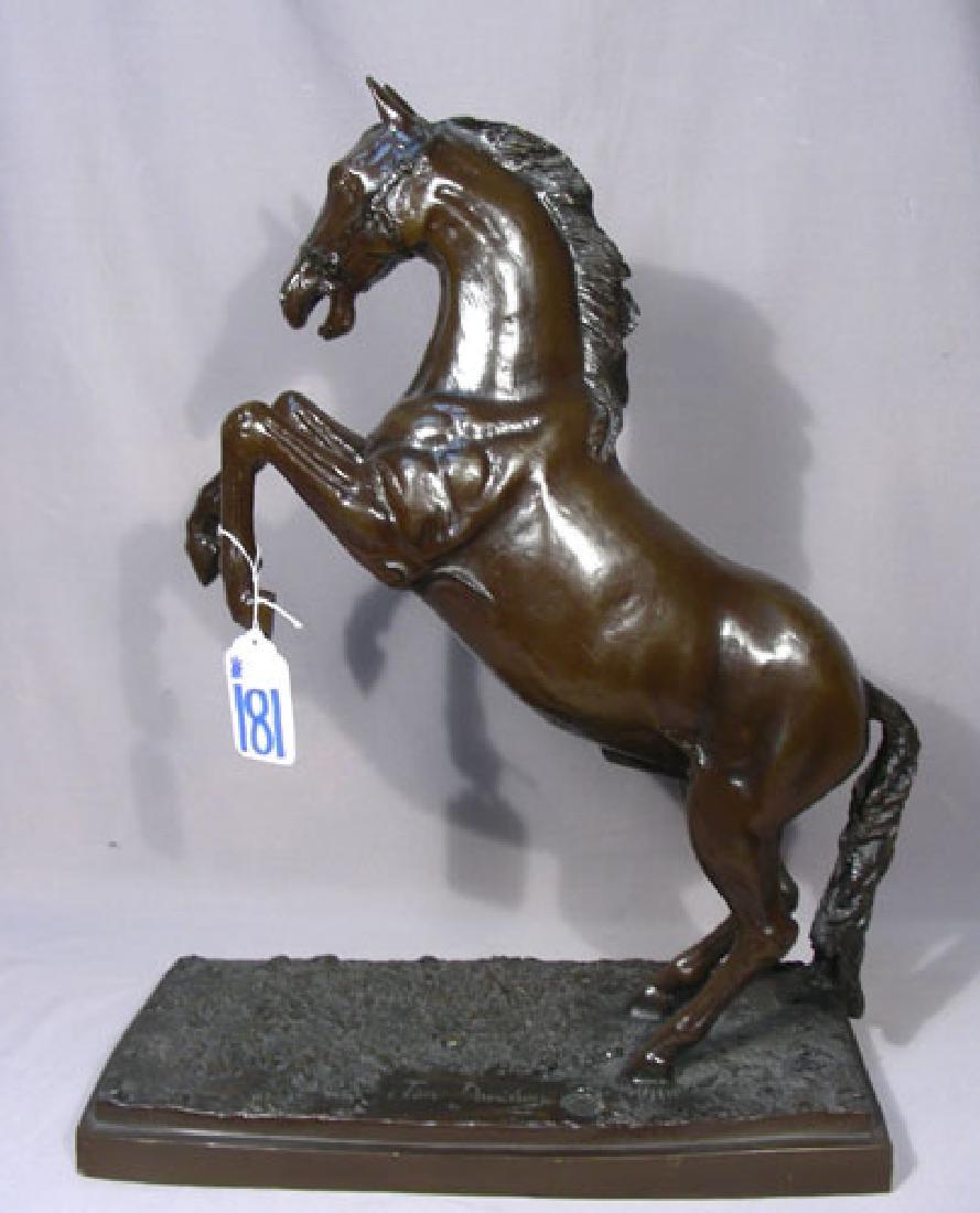 BRONZE SCULPTURE OF REARING HORSE BY JIM DAVIDSON