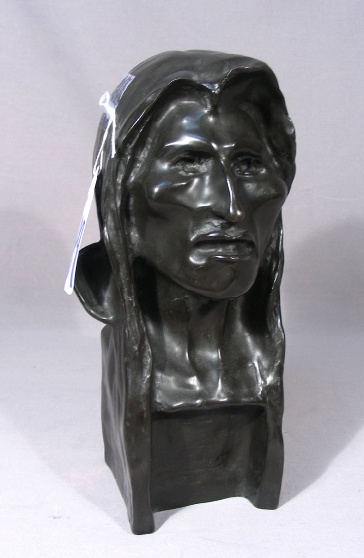 "VINTAGE BRONZE SCULPTURE ""THE SAVAGE"""