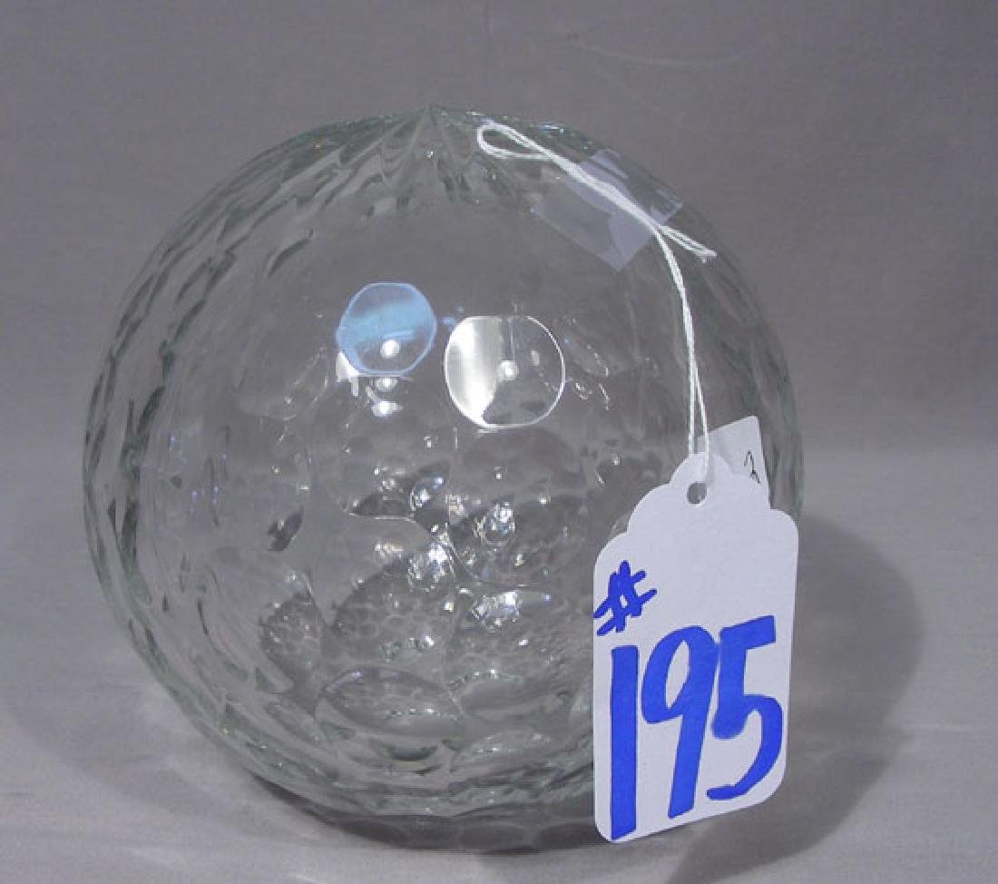"HEAVY CUT CRYSTAL ""GOLF BALL"" SCULPTURE"