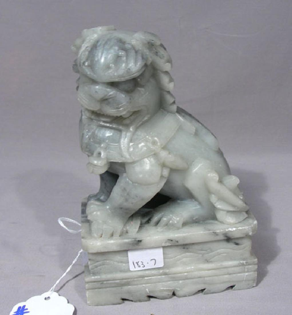 VINTAGE CHINESE HAND CARVED SOAPSTONE FOO DOG