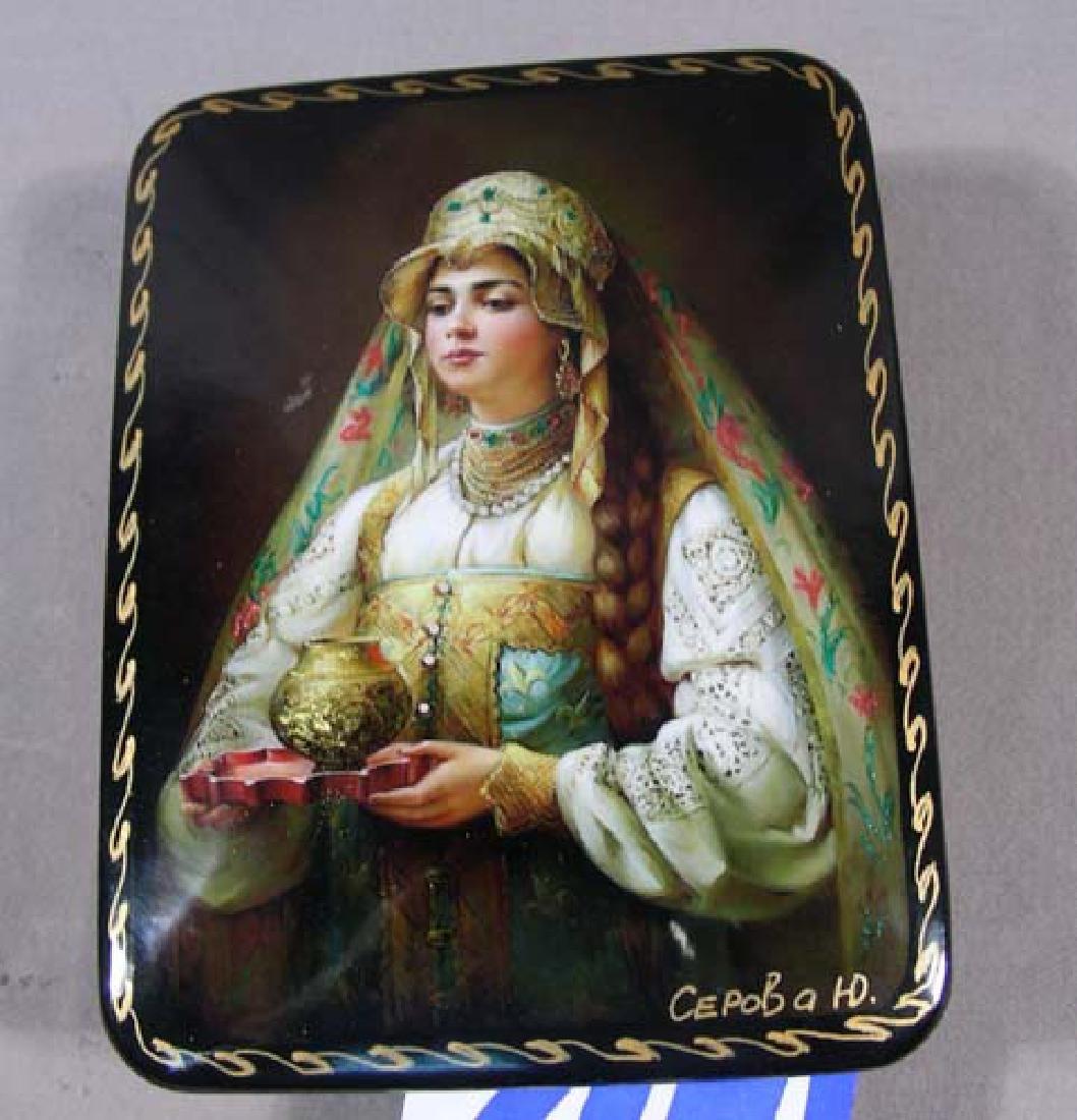 FINE RUSSIAN LACQUER BOX