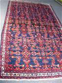 ANTIQUE HAND KNOTTED SEMI ANTIQUE PERSIAN AREA RUG