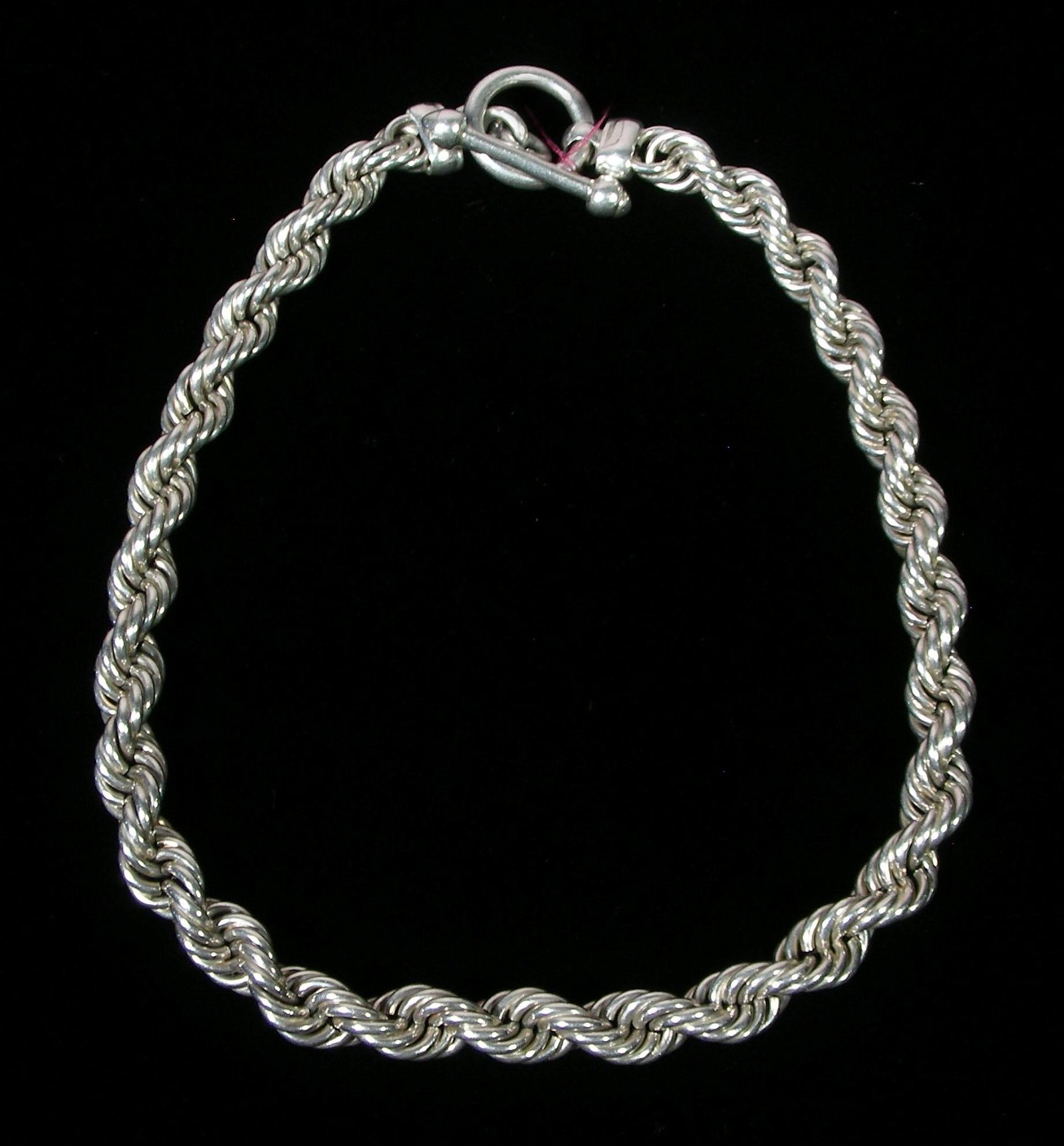 LADIES HEAVY STERLING SILVER ROPE NECKLACE