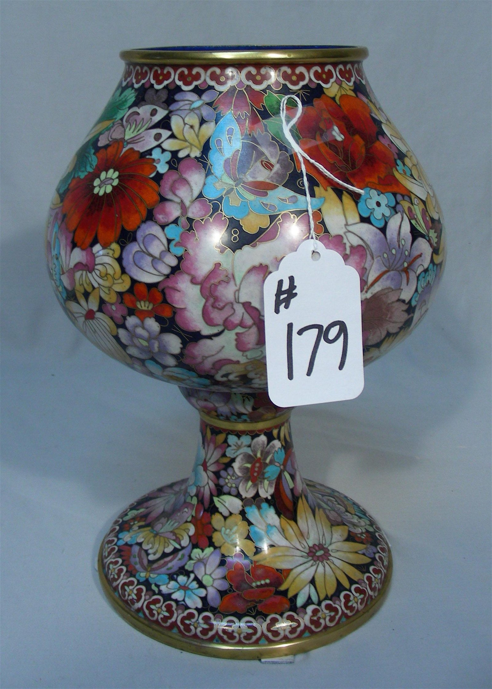 TALL CHINESE CLOISONNE VASE