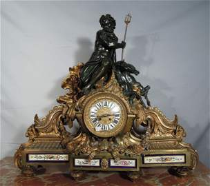 FABULOUS 19TH CENTURY FRENCH FIGURAL MANTLE CLOCK