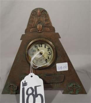 LOUIS C. TIFFANY FURNACES INC. BRONZE DESK CLOCK