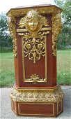 VERY HEAVY CARVED WOODEN ITALIAN PEDESTAL
