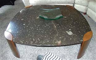 RARE LIMITED EDITION BAKER COFFEE TABLE WITH FOSSIL