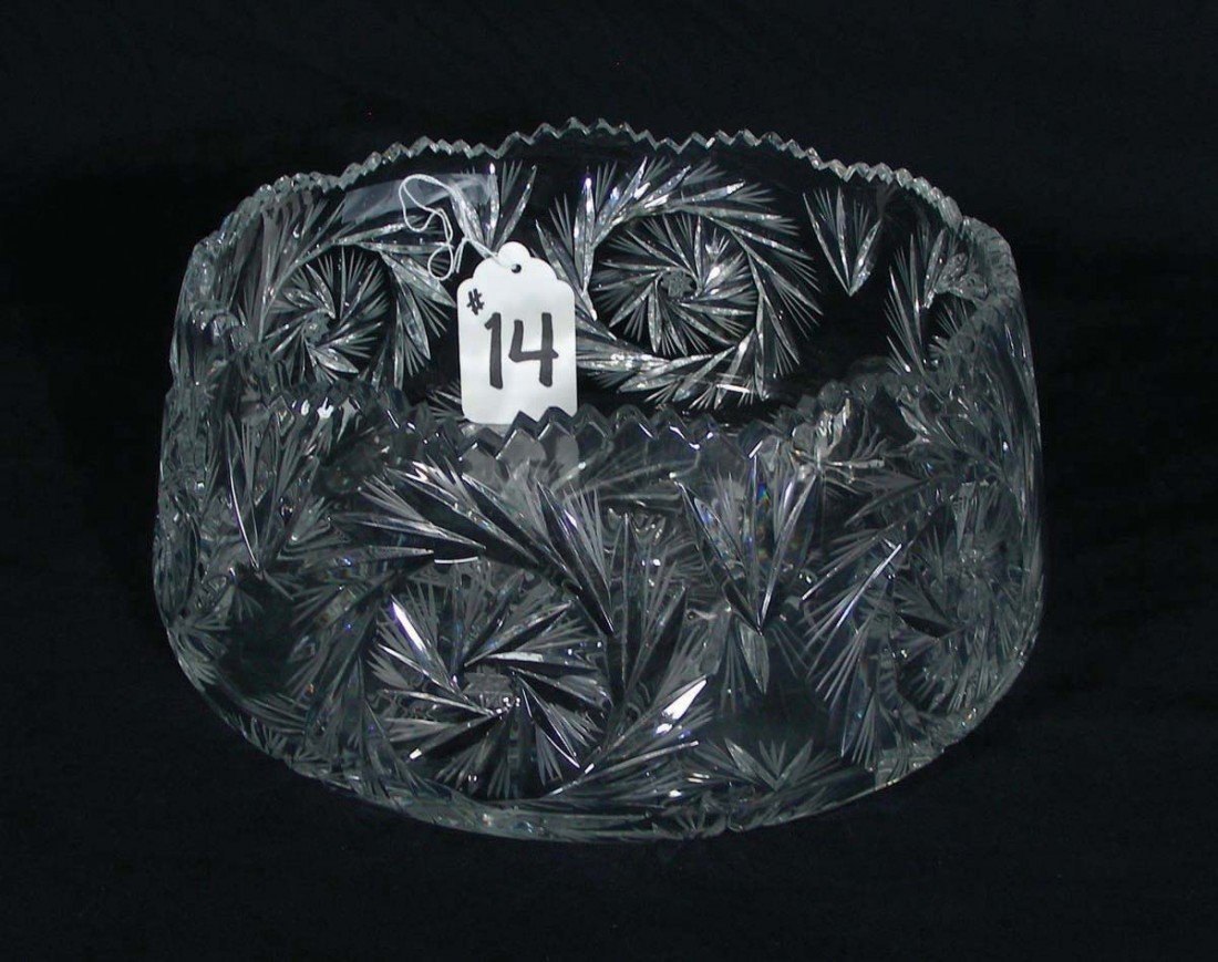 14: EUROPEAN CUT CRYSTAL OPEN BOWL