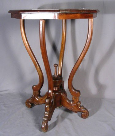 10: CARVED MAHOGANY SIDE TABLE
