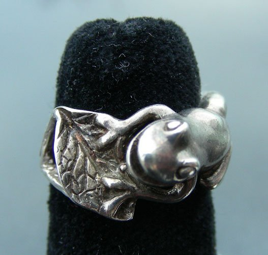 1: LADIES STERLING SILVER RING