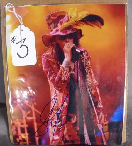 3: HAND SIGNED PHOTOGRAPH OF STEVEN TYLER