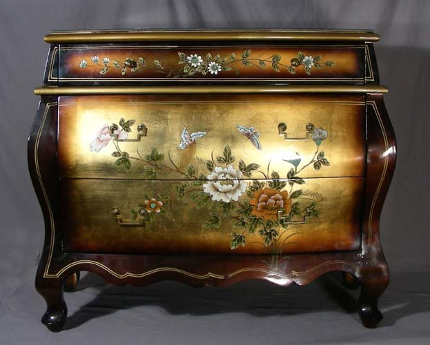22: CHINESE COROMANDEL HAND PAINTED CHEST OF DRAWERS