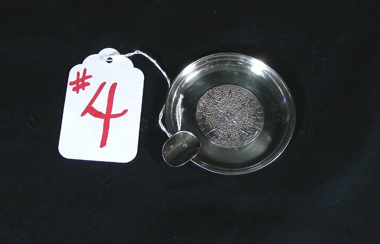 4: OLD MEXICAN STERLING SILVER ASHTRAY