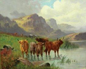 CHARLES W. OSWALD (19TH CENTURY) BRITISH - OIL ON C