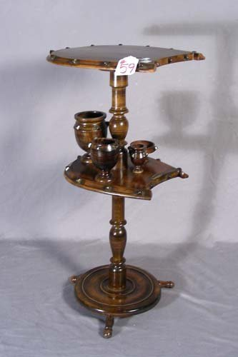 59: 19TH CENTURY EUROPEAN WOODEN CIGAR STAND