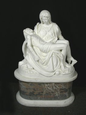 "BEAUTIFUL ITALIAN HAND CARVED MARBLE SCULPTURE ""MAR"