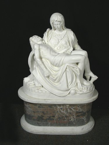 """95: BEAUTIFUL ITALIAN HAND CARVED MARBLE SCULPTURE """"MAR"""