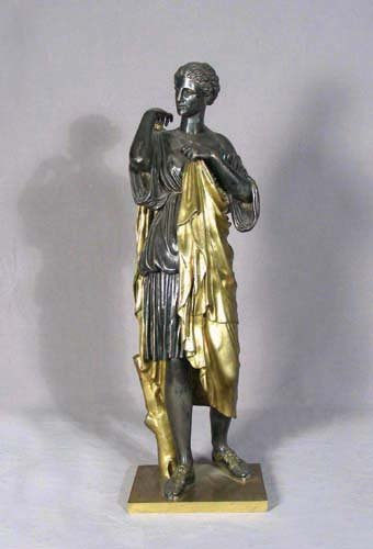 101: 19TH CENTURY FRENCH BRONZE SCULPTURE OF WOMAN