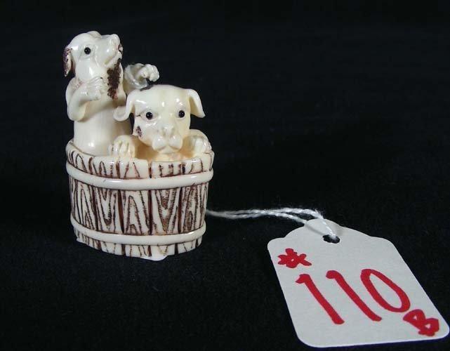 110B: CHINESE CARVED IVORY NETSUKE