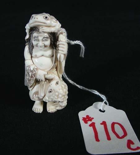 110C: CHINESE CARVED IVORY NETSUKE