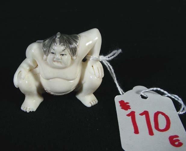 110E: CHINESE CARVED IVORY NETSUKE