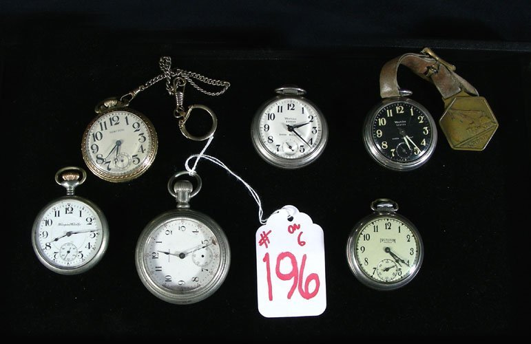 196: GROUP OF SIX MISC. POCKET WATCHES