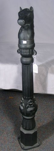16: HEAVY CAST IRON HITCHING POST