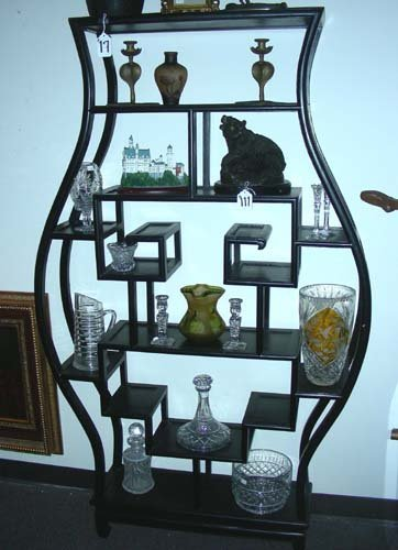 17: LARGE CHINESE STYLE OPEN DISPLAY CABINET