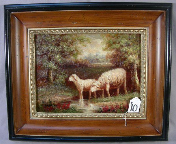 10: OIL ON CANVAS: SHEEP