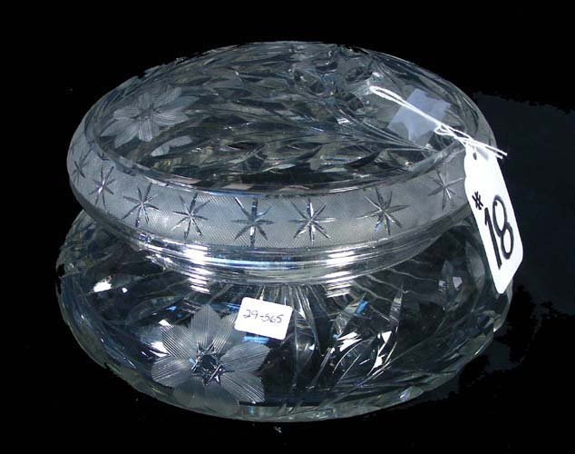 18: BEAUTIFUL OLD CUT CRYSTAL COVERED BOWL
