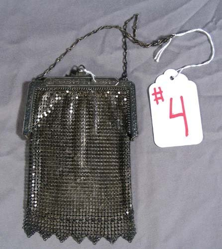 "4: OLD METAL MESH ""WHITING & DAVIS"" PURSE"