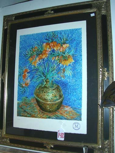 "142: COLORED LITHOGRAPH MY VINCENT VAN GOGH ""CROWN IMPE"