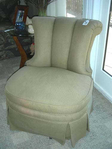 18: PAIR UPHOLSTERED OCCASIONAL CHAIRS