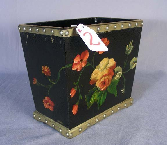 2: HAND PAINTED WASTE BASKET