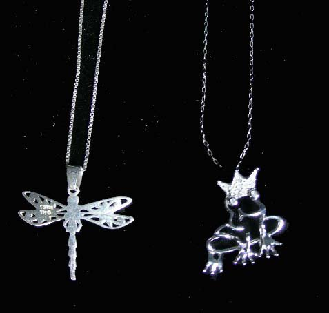 1: TWO STERLING SILVER NECKLACES