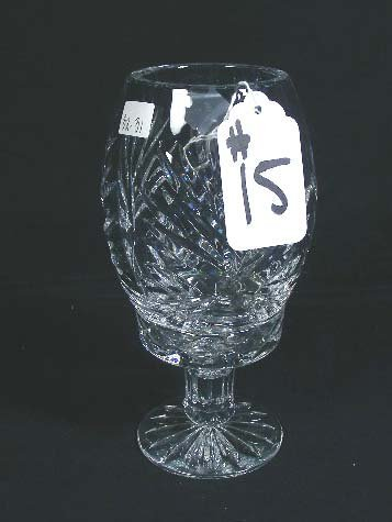 15: EURPOEAN CUT CRYSTAL HURRICANE LAMP
