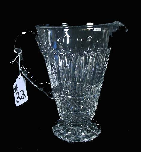 22: EUROPEAN CUT CRYSTAL PITCHER