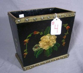 4: HAND PAINTED WASTE PAPER BASKET