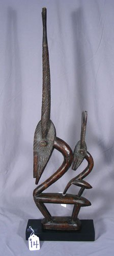 """AFRICAN HAND CARVED WOODEN SCULPTURE """"CHIWAWA"""""""