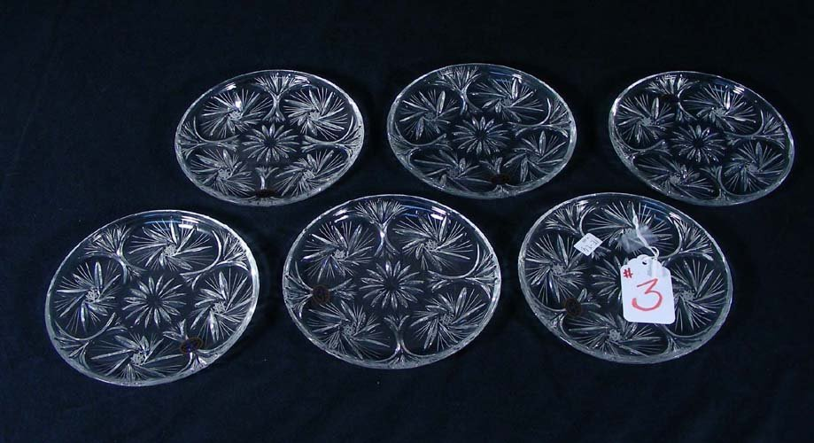 GROUP OF SIX CRYSTAL PLATES