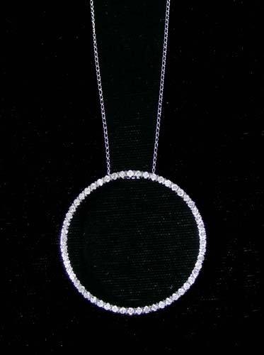"LADIES 14K WHITE GOLD AND DIAMOND ""CIRCLE OF LIFE"" NECK"