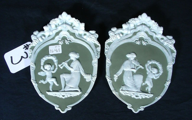 PAIR WEDGEWOOD STYLE PLAQUES