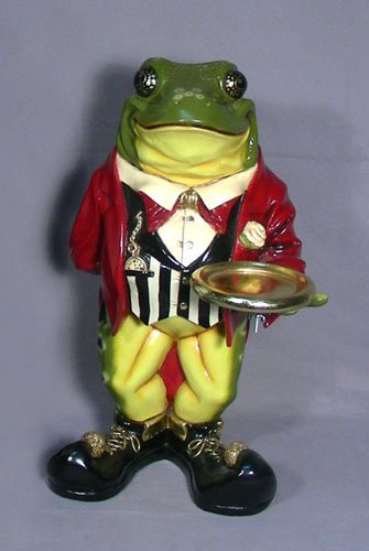 HUMOROUS COMPOSITION FROG BUTLER