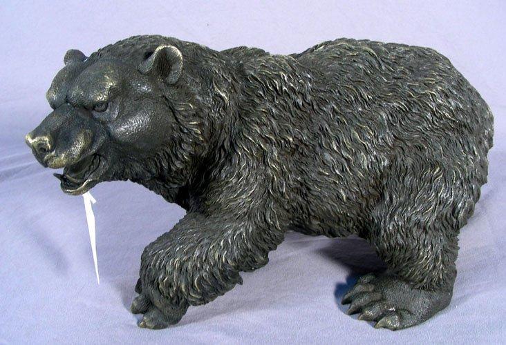 BRONZE SCULPTURE OF STANDING BEAR