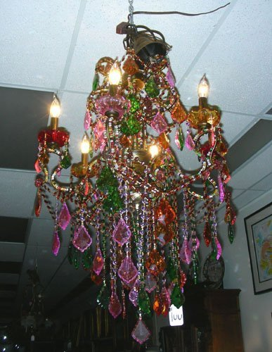 Multi colored crystal chandelier italian multi colored crystal chandelier arubaitofo Image collections