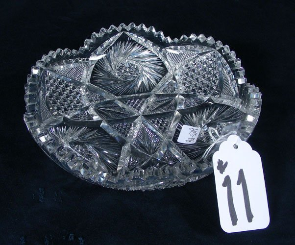 OLD CRYSTAL ETCHED AND CUT BOWL
